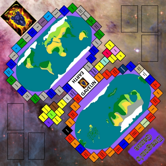 Dragon's Game Board with Card Spaces